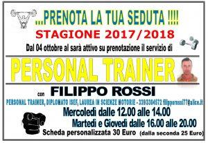 Locandina Personal Trainer Inverno 2017-2018